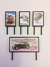 4 Model Railway Billboards / Posters - Trackside Signs - OO Gauge - Pack 171