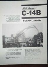 Hein-Werner C-14B Hydraulic Scrap Loader Specification Brochure