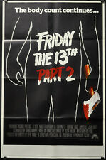 FRIDAY THE 13TH PART II 1981 ORIGINAL 30X46 SUBWAY MOVIE POSTER BETSY PALMER