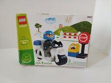 LEGO EXPLORE DUPLO 2002 Police Motorcycle Vehicle Toy Set #3607
