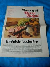 RARE ANCIEN JOURNAL  BETTY BOSSI CUISINE RECETTE COLLECTION N° 7 SEPTEMBRE 1979