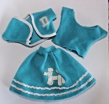 Barbie doll Dream Girls USA 3 piece poodle skirt shirt & jacket lot set