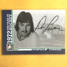 DON LEVER (VANCOUVER) 09-10 ITG 1972 THE YEAR IN HOCKEY AUTOGRAPH HARD SIGNED