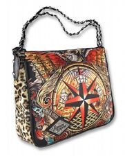 Liquor Brand Stay The Course Nautical Tattoo Shoulder Chain Bag Handbag Purse