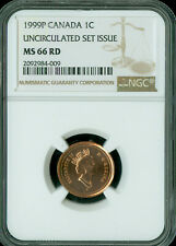 1999-P TEST CANADA CENT NGC MS-66 UNCIRCULTED SET SPOTLESS  *