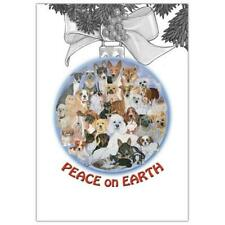 Pipsqueak Productions C701 Peace On Earth Mix Dog with Cat Christmas Boxed Ca.