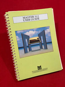MASTER 512 User Guide with App & Software list etc Acorn BBC Micro Master