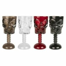 3 x Halloween Skull Face Goblet Plastic Drinking Cup Glasses Party Pub Drink Bar
