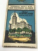Vintage Matchbook Hotel Cleveland Ohio Advertisement
