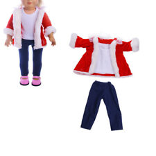 Fashion Doll Coat + T-shirt + Pants Clothes Set for 18inch American Girl Doll