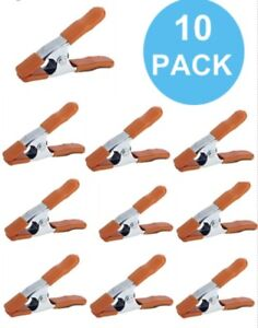 "NEW- Pony (10 PACK) 3201-HT 1"" Inch Spring Clamps with Protective Handles & Tips"