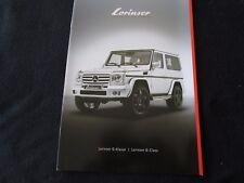 2011 Mercedes LORINSER G-class Catalog G500 G55 G63 Spoilesr & Wheels Brochure