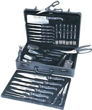 Chef Knife Set With Case 32 Piece Professional Perfect Balance Kitchen Cleaver