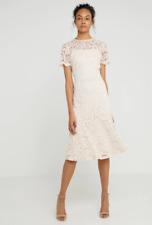 Ralph Lauren Loki Lace Midi Dress Nude Pink UK 12 Wedding Cocktail John Lewis