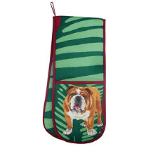 Bulldog Double Ovengloves Gift/Present Oven Gloves British English