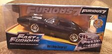 Jada Toys Dom's Dodge Charger R/T 1:24 Black Die Cast Car Fast & Furious 7