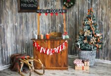 Christmas Hot Cocoa Drinks Backdrops  Photography Background 6x4ft Prop Vinyl