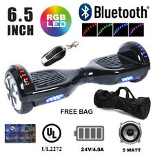 "2 Wheel 6.5"" Electric Scooter hooverboard UL Certified Rugged body LED Bluetooth"