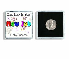 Good Luck In Your New Job Lucky Sixpence Keepsake In Display Case Ideal Gift W30