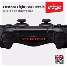 6 X Playstation PS4 Controller Custom Light Bar Decal Personalised Vinyl Sticker