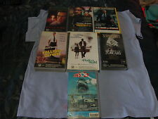 7 VHS VIDEO RARE MOVIES PERFECT WORLD SCHINDLERS LIST LINE OF FIRE JAWS 3