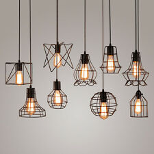 Rétro Vintage Industriel Pendentif Abat-Jour Plafonnier Lampe Chandelier Light