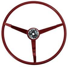 """1965-1966 Ford Mustang 15"""" 3-Spoke Steering Wheel 1966 Red"""