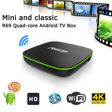 R69 Smart Home TV Box  Quad Core 2.4GHZ WiFi HDMI 1080P Android 7.1 Media Player