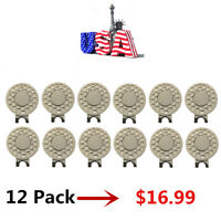 Golf / Magnetic Ball Marker Hat Clips (12 Hat Clips) New - Quick Ship From USA