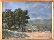 Felice HROVAT. né à Trieste 1930 .Vallée Californienne.Gouache.SBD.30x40.Cadre.