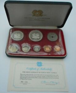 Papua New Guinea 1975 PROOF SET 5K & 10K in Silver