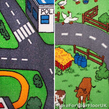 Road Map Carpet ,4m Wide, Childrens Play Room Flooring, Kids Bedroom, Cars Cheap