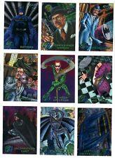 BATMAN FOREVER Metal Movie trading cards - Full 100 card set.