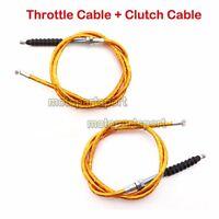 Gold Twist Throttle Clutch Cable For SSR Thumpstar XR CRF 50 TTR Pit Dirt Bike