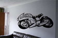 Motorcycle Sports Bike Wall Sticker Wall Art Vinyl Decal Mural Sticker Huge!!
