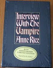 INTERVIEW WITH THE VAMPIRE by Anne Rice,LTD Ed,**SIGNED**,HC,DJ,Case,c.1996 MINT