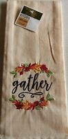 "FALL Kitchen Towel  GATHER  16"" X 26""  100% Cotton"