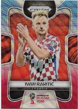 2018 Panini FIFA World Cup Blue Red Wave Prizm (228) Ivan RAKITIC Croatia
