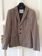 G-STAR RAW DANBURY Men's Brown Fine Check Cotton Blazer Jacket Size L
