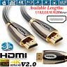 1m/2m/4m/5m/10m/15m/20m PREMIUM HDMI Cable v2.0 HD High Speed 4K 2160p 3D Lead