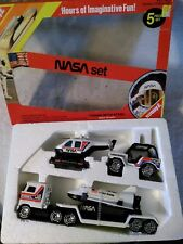 Buddy L Nasa Discovery Space Shuttle Semi, Jeep, Helicopter, 1984 Steel Toy Set