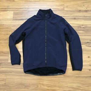 Adidas Climaheat Cycling Winter Jacket Reflective Navy Small BR7813 NEW