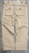 Burberry Children Toddler Boys Kids Taupe Cotton 4 POCKET Pant Trousers Size 4Y