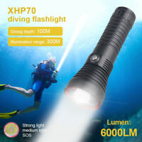 Super Bright LED Scuba Diving Flashlights Lights Handheld Torch Underwater 100m