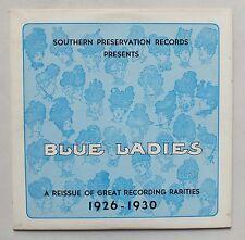 33 TOURS - JAZZ - BLUE LADIES - REISSUE OF GREAT RECORDING RARITIES 1926-1930 *