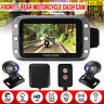 Waterproof Front + Rear 1080P GPS Motorcycle Dash Cam Camera DVR G-Sensor