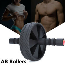 Ab Roller Exercise Wheel for Abdominal Core Strength Training Workout Abs Black
