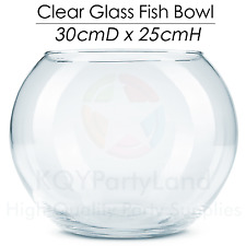 Round Clear Glass Fish Bowl 30*25cmH Table Vase Display Floral Terrarium Wedding