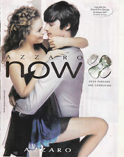 AZZARO NOW - PARFUM - PUBLICITE PRESSE - PAPER ADVERT - COUPURE MAGAZINE