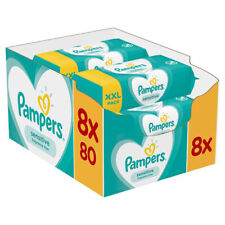 Pampers New Baby Sensitive Wipes (8x80 XXL Travel Packs)